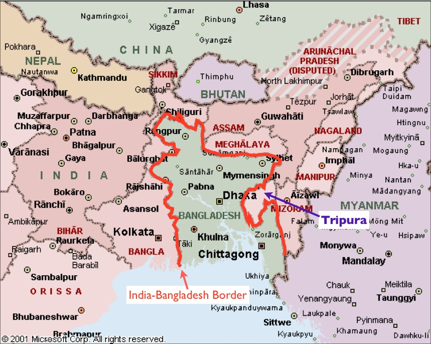 Bengal Map India India-bangladesh-border-map