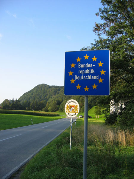 German-Austria border