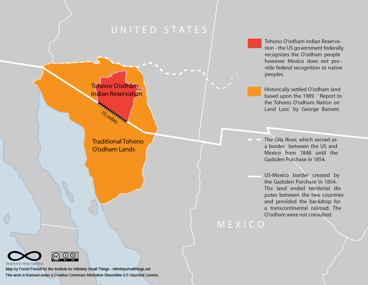Tohono O'odham Nation Map