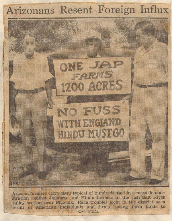 Anti-Japanese/-Indian rally